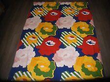 Vintage 60s 70s Cumulus psicodélico Flower Power coloridas de tela de algodón