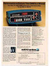 1978 Sabtronics 2010 Digital Multimeter Vtg Print Ad
