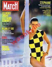 Paris Match n°1990 du 17/07/1987 Stéphanie de Monaco Michael Jackson Pieds-noirs