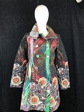 DESIGUAL Women's Black/Multicolor Elegant Coat Size 40