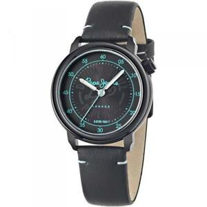 Womens Watch PEPE JEANS SALLY R2351117503 Leather Black London Lady