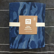 New pottery barn teen camo sheet set king  Blue