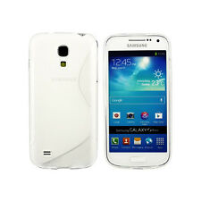 Samsung Galaxy S4 Grip S-Line Wave Design Clear Gel Silicone Case Cover Soft TPU