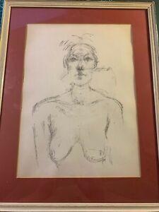 Alberto Giacometti original lithograph 'Bust of a Nude' 1960