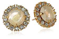 Kate Spade New York Gold Tone White Stone Stud Earrings WBRU7301 MSRP $58