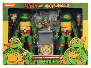 Teenage Mutant Ninja Turtles NECA Cartoon Michelangelo and Raphael 2-pack TMNT