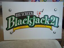 "Blackjack 21 Radica Game 151/4""x93/4"" Foam Board Mancave Sign Poker Card Room"