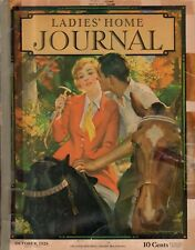 1928 Ladies Home Journal October-Dog Coats; Caruso; Real furs;N C Wyeth;Terriers