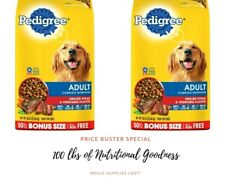 Adult Dry Dog Food Grilled Steak n Veggie Flavor 2-50 lb Bags 100 Pounds To Door