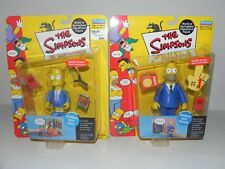 BNIP WOS The Simpsons Sunday Best BART & HOMER 2000-01 Playmates Action Figures