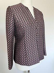 Eastex Womans Purple/Black Herringbone Style Evening Jacket  Size 10 uk - 36 eu