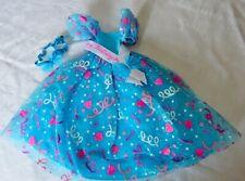 1993 Gorgeous Blue Happy Birthday Dress w/ banner & Hair Piece for Barbie Doll