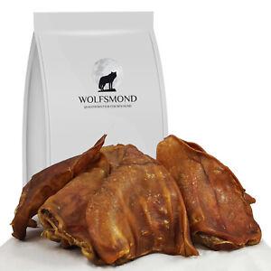 Schweineohren 10 - 100 Stk Schwein Kausnack Hundefutter Snack Hund Pig Ears Ohr