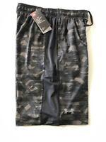 Under Armour UA MEN'S SZ Large Loose Athletic Training Shorts Black 1291322 004