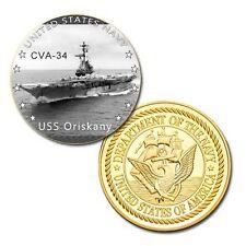 us navy USS Oriskany  (CVA-34) GP Challenge pinted Coin