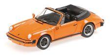 Minichamps 1/43: 430062038 Porsche 911 Carrera Convertible (1993), naranja