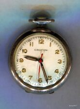 Vintage Small Sterling Silver Croton 15 Jewel Swiss Pocket Watch Works