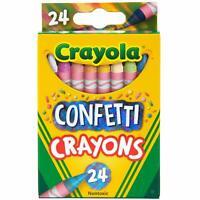 Crayola Confetti Crayons Multi Color Crayons Kids Coloring Supplies 24 Count