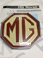 GENUINE MG ROVER MGZR ZS ZT FRONT BONNET BADGE BURGUNDY CREAM 59mm DAH000040WXA