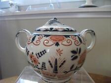 Wedgwood Van Hoorne creamware covered sugar box fish finial split handles