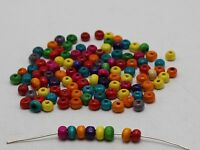 1000 Mixed Color 5mm Round Wood Beads~Wooden Spacer Seed Beads