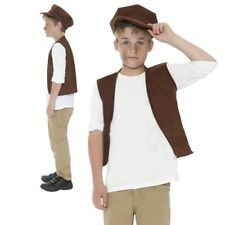 Victorian Boy Costume Child Urchin Fancy Dress Peasant Book Day Outfit Kids