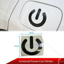 Universal Power Icon Decal for Civic Gas Lid Tank Cover Fuel Cap Trim Carbon