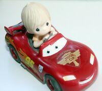 Precious Moments Disney Pixar Cars Movie Lightning McQueen Keeping It Wheel HTF