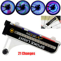 32 LED Motorcycle Cycling Bicycle Bike Wheel Signal Tire Spoke Light 21 Changes