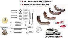 FOR VOLKSWAGEN VW UP 1.0 2012->NEW REAR HANDBRAKE SHOE + FITTING KIT