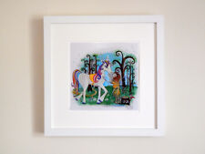 Children's picture -Unicorn and the Wood Nympth illustration