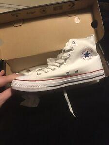 Womens UK Size 8 White Converse All Stars