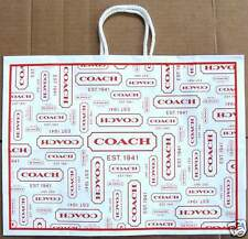 "2 New Coach Gift Bag Lot of 2 Gift bags 16"" x 12"" x 5.75"" + 4 XL Coach Tissues"