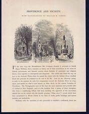 c1870 Views of Providence Rhode Island - 1872 Wood Engraved Print