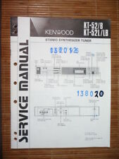 MANUAL DE SERVICIO Kenwood kt-52 sintonizador, original