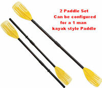 Paddles  for Kids Blow up boats tubes paddle kayak double sided row plastic oar