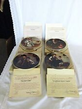 Norman Rockwell 4 Plates Branford Exchange Painter Music maker Lighthouse Keeper