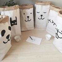 Useful Kraft Paper Storage Bags Laundry Bag Toys Clothes Organizer Home BC