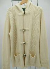 Lauren Ralph Lauren Wool Hood Cashmere Winter Long Cardigan Sweater 2X