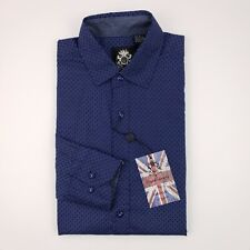 English Laundry Shirt Small Blue New Nwt Slim Fit Flip Contrast Cuffs Cotton S