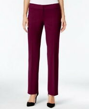 Nine West Purple Womens Size 16 Flat Front Straight Leg Dress Pants 273