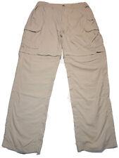 Mens Columbia GRT NYLON Cargo Convertible Lightweight Hiking Pants Sz Med 32-34