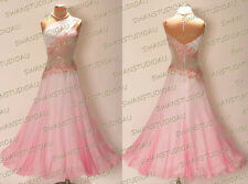 BRAND NEW READY TO WEAR  SHADING PINK GEORGETTE BALLROOM DANCE DRESS SIZE US 4