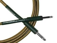 """18"""" TWEED Guitar Instrument Cable Conquest Sound Made in USA Lifetime Warranty"""