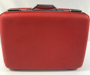 Vintage 1970's American Tourister Cam Hardshell Red Luggage Suitcase
