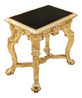 MUSEUM Quality ITALIAN 19th C Antique Regency GILT CARVED LION PAW TABLE Stand