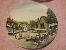 """Collection of Royal Doulton """"Crinkley Bottom"""" china plates by Bradford Exchange"""