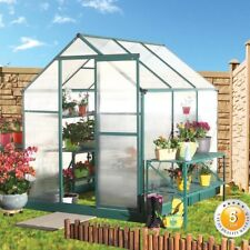 "NEW SUNCOZY ALUMINIUM POLYCARBONATE GARDEN GREENHOUSE 6""* 6"" FT"