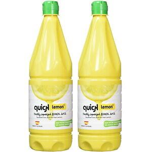 Quick Lemon® 🍋 Freshly Squeezed Lemon Juice Large 1 Litre Bottle Choose 1 Or 2