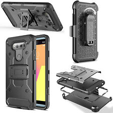 For LG G6 Shockproof Rugged Hybrid Armor Case Cover With Stand Holster Belt Clip